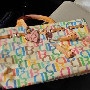 Dooney & Bourke tassel leather pastel Bag